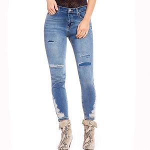 Free People | About a Girl hi-rise skinny denim